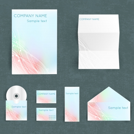 Professional corporate identity set Vector