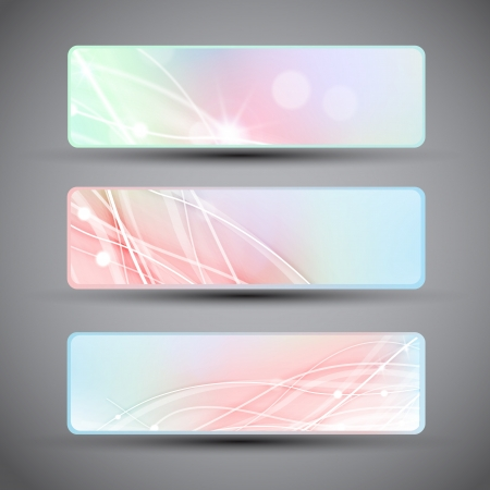 Abstract horizontal banners set banners or headers  Stock Vector - 17205627