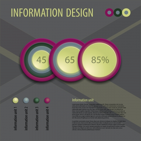 Business diagram template with text fields  illustration  Vector