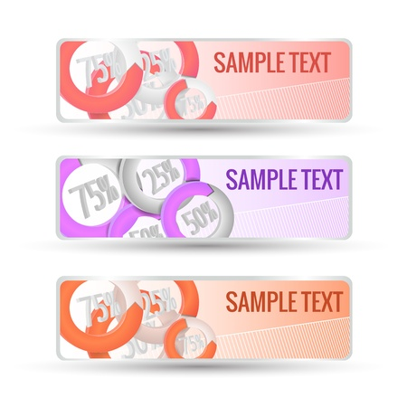Abstract horizontal banners set  Vector banners or headers  Stock Vector - 17293467