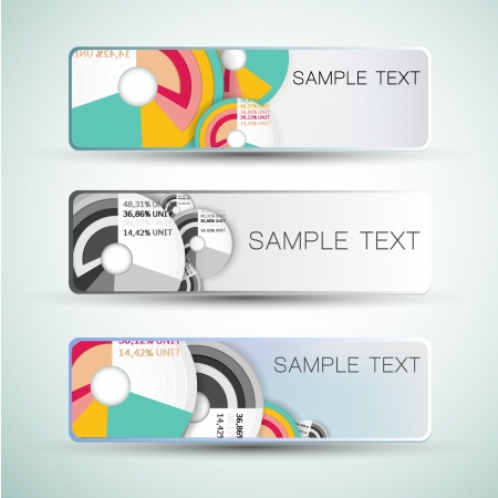 Abstract horizontal banners set  Vector banners or headers  Stock Vector - 17293463