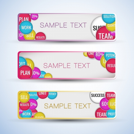 Abstract horizontal banners set  Vector banners or headers  Stock Vector - 17293458