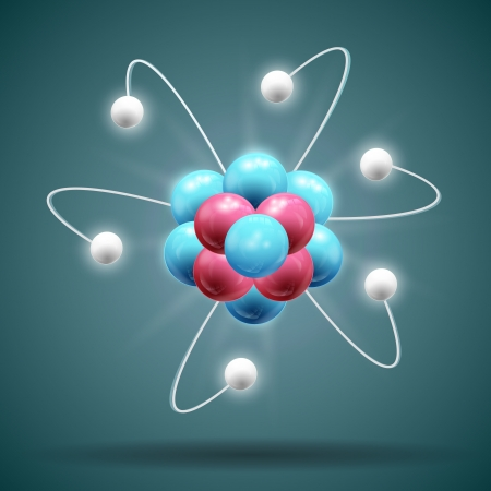 Science atom   Illustration,  contains transparencies  Vector
