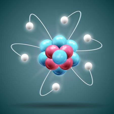 atomique: Sciences atome Illustration, contient les transparents