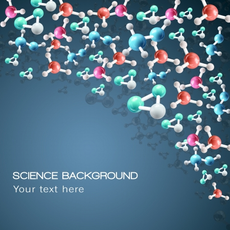 scientific: Molecule background   Illustration,  contains transparencies