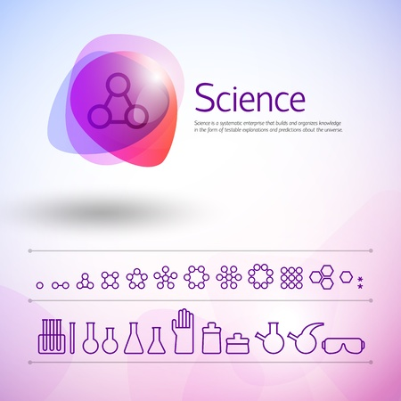 Chemistry icons set   Illustration,   contains transparencies  Stock Vector - 17342028