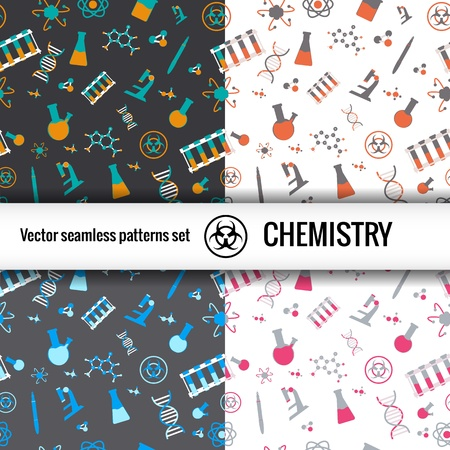 Chemistry symbol seamless   Illustration,  contains transparencies  Vector