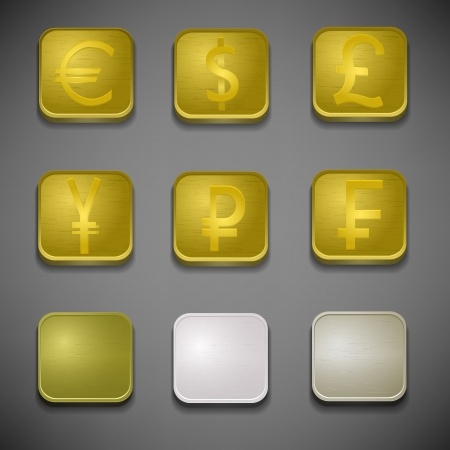Money icons set  Illustration, contains transparencies  Stock Vector - 17510975