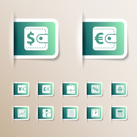 Money icons set Illustration, contains transparencies  Stock Vector - 17510969