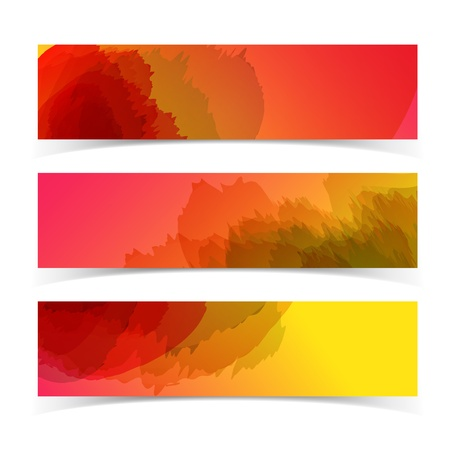 Abstract horizontal banners set   banners or headers Illustration, contains transparencies  Stock Vector - 17510983