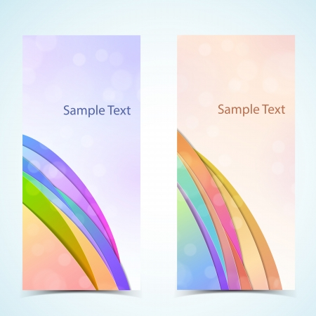 Abstract vertical banners set  Vector banners or headers  Vector Illustration, contains transparencies  Stock Vector - 17631156