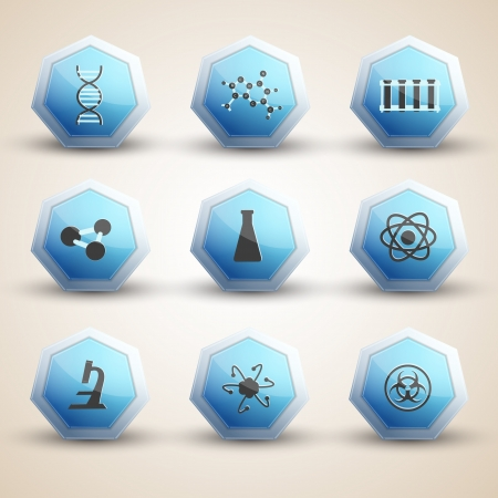 Science icones set  Vector Illustration, eps10, contains transparencies  Stock Vector - 17631134