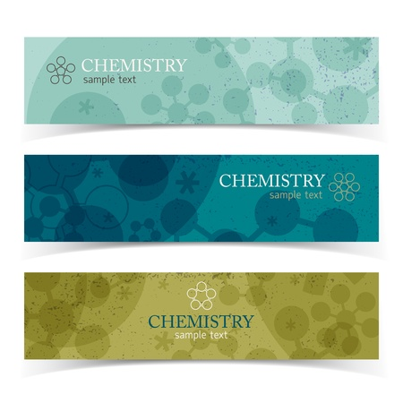 Molecule banners set  Vector Illustration, eps10, contains transparencies  Vector