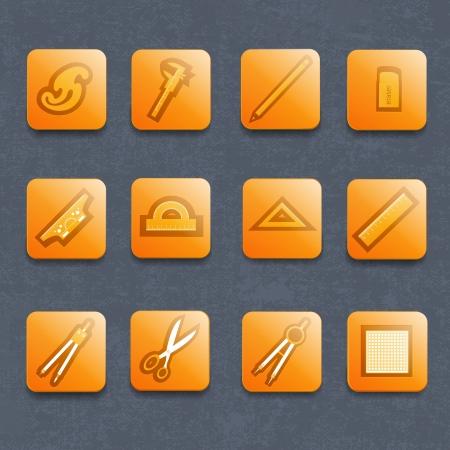 Industrial vector icon set  Vector Illustration, contains transparencies  Stock Vector - 17750284