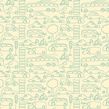 Seamless transport pattern Vector Illustration, contains transparencies  Vector