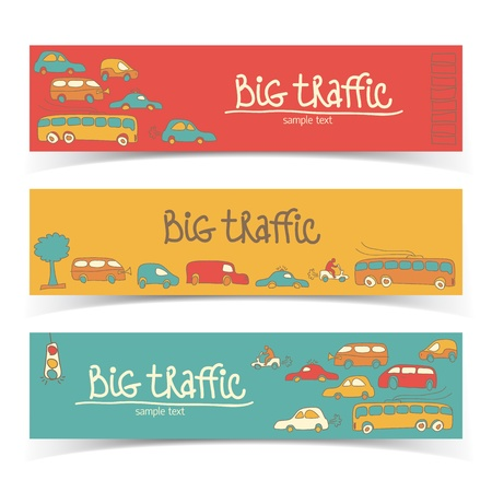 Transportation Doodle banners  Vector Illustration, eps10, contains transparencies  Stock Vector - 17750187