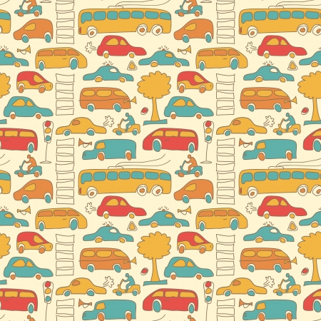 Seamless transport pattern Vector Illustration, eps10, contains transparencies  Stock Vector - 17750208