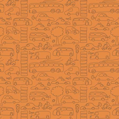 Seamless transport pattern Vector Illustration, eps10, contains transparencies  Stock Vector - 17750203