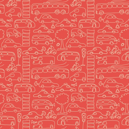 Seamless transport pattern Vector Illustration, eps10, contains transparencies  Vector