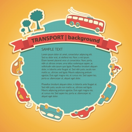 Transportation Doodle Background  Vector Illustration, eps10, contains transparencies  Vector