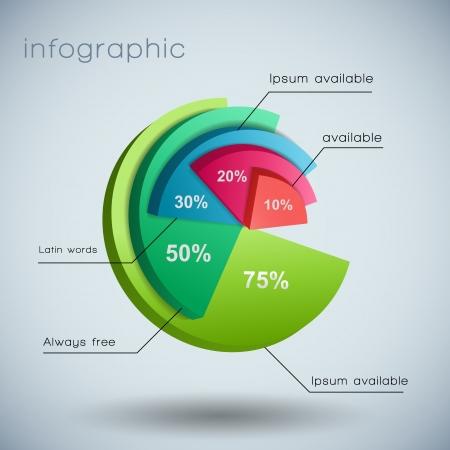 diagrama: Plantilla de la Ilustraci�n Vector diagrama con campos de texto, contiene las transparencias Vectores