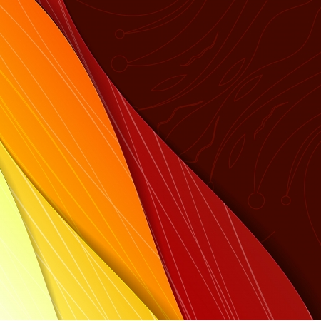 modish: Colorful illustrated abstraction  Vector Illustration, eps10, contains transparencies
