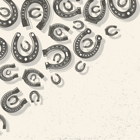 Horseshoes background  Vector Illustration, eps10, contains transparencies  Vector