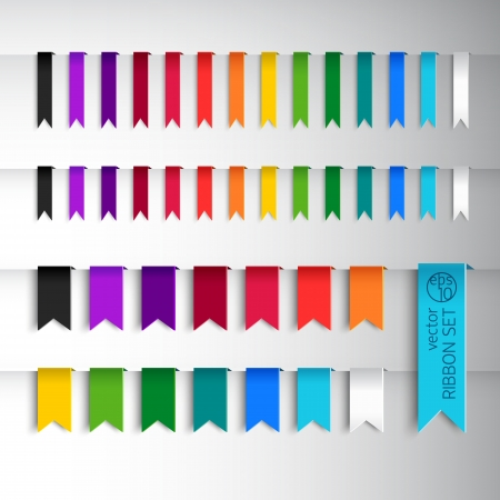 Mega collection of various ribbons  Vector Illustration, eps10, contains transparencies  Vector