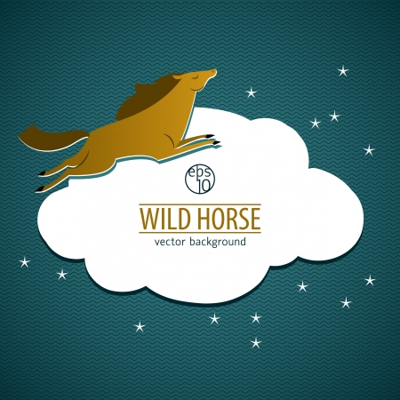 Wild horse. Vector Illustration, eps10, contains transparencies. Stock Vector - 18005716