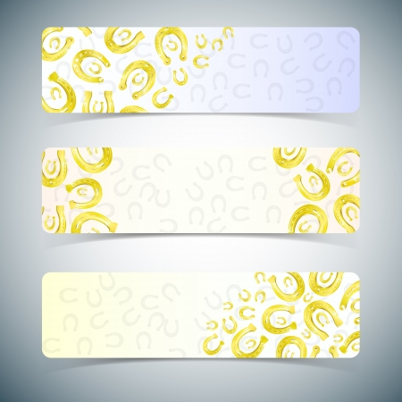 Horseshoes banners set.  Vector