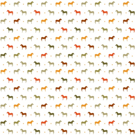 good luck: Horses seamless pattern  Vector Illustration, eps10, contains transparencies  Illustration