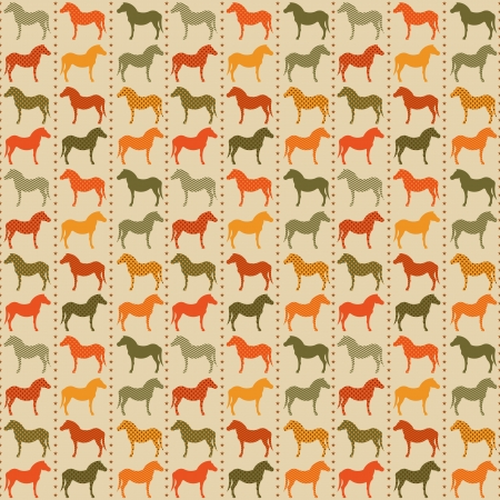 Horses seamless pattern  Vector Illustration, eps10, contains transparencies  Vector