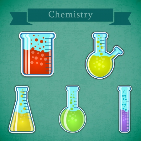 Chemistry icons set  Vector Illustration, eps10, contains transparencies  Stock Vector - 18098474