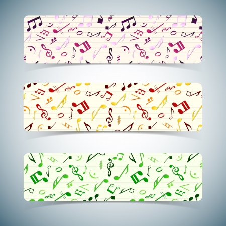 Colorful music banners  Vector Illustration, eps10, contains transparencies  Vector