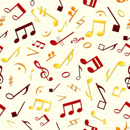 Colorful music seamless pattern  Vector Illustration, eps10, contains transparencies  Vector
