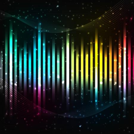 합창단: 다채로운 음악 배경 벡터 일러스트 레이 션, eps10는 투명 필름을 포함