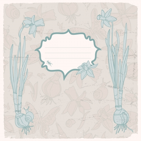 Hand drawn doodle flowers background Illustration,  contains transparencies  Stock Vector - 18291807