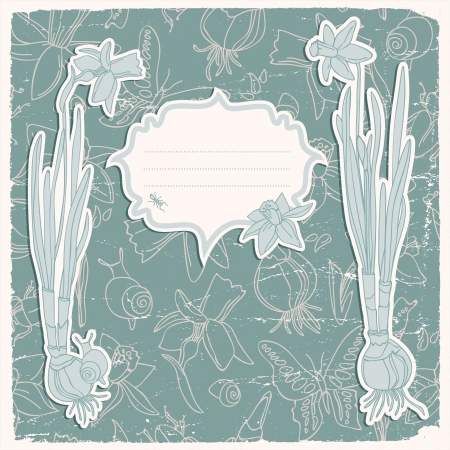 Hand drawn doodle flowers background Illustration,  contains transparencies  Stock Vector - 18282954