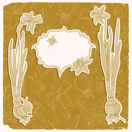 Hand drawn doodle flowers background Illustration,  contains transparencies  Stock Vector - 18291805