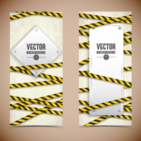 Industrial banners set  Vector Illustration, eps10, contains transparencies  Vector