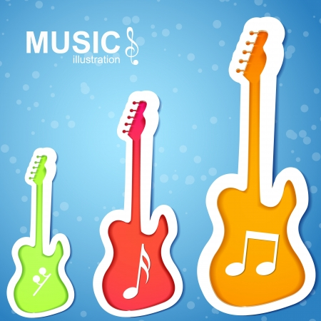 Colorful music background  Vector Illustration, eps10, contains transparencies  Stock Vector - 18466358