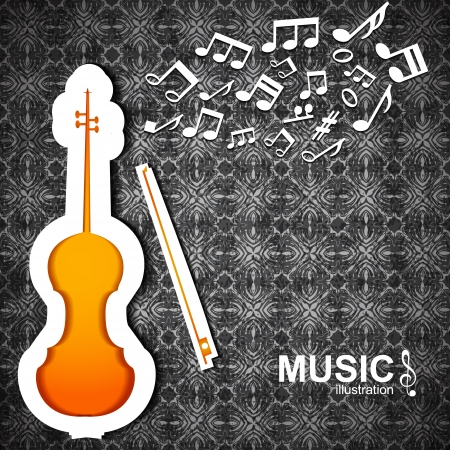 Colorful music background  Vector Illustration, eps10, contains transparencies  Vector
