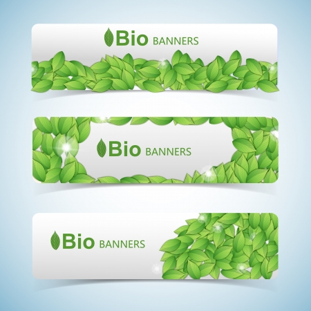 Nature abstract green banners set  Vector Illustration, eps10, contains transparencies  Vector