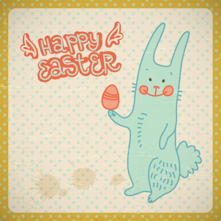Happy easter vintage card  Vector Illustration, eps 10, contains transparencies  Vector