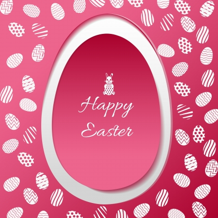 Greeting card with Easter egg symbol  Vector Illustration, eps 10, contains transparencies  Stock Vector - 18686456