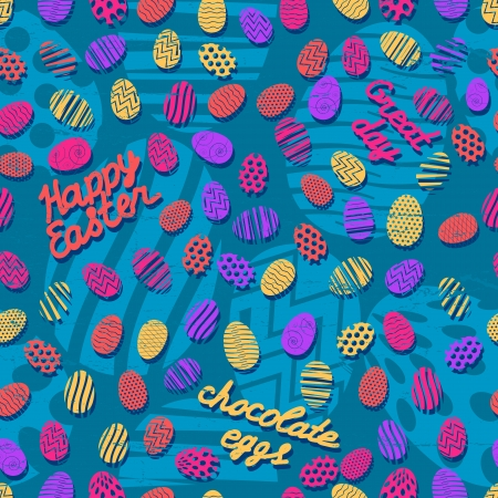 Easter eggs seamless pattern  Vector Illustration, eps 10, contains transparencies  Vector