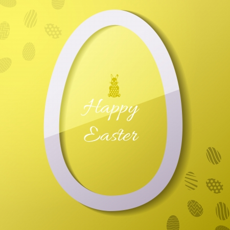 Greeting card with Easter egg symbol  Vector Illustration, eps 10, contains transparencies  Vector