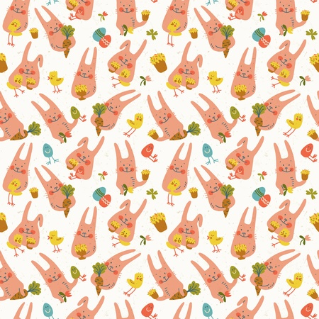 Happy easter seamless pattern  Vector Illustration, eps 10, contains transparencies  Vector
