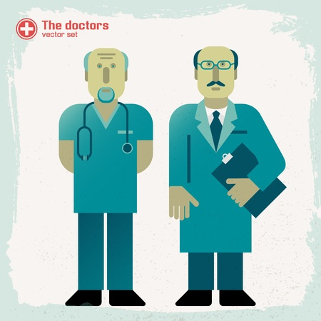 Hand drawn doctors  Vector