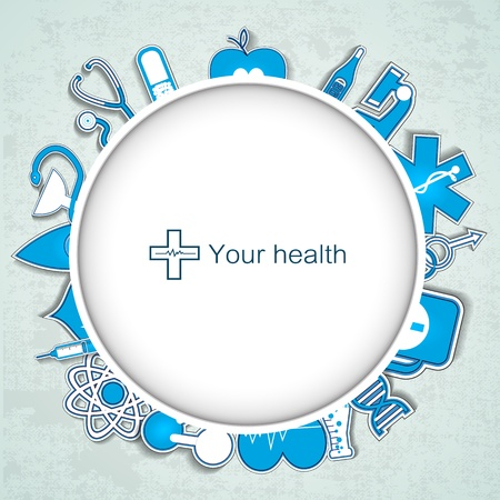 Medical banner with icons Vector